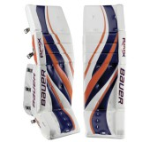 Bauer RX10 Re-Flex Senior Hockey Goalie Leg Pads - 2010.