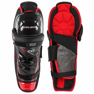 Bauer Vapor X 100 Jr. Shin Guards.