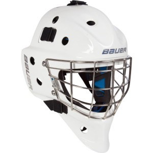 Bauer NME 8 Certified Straight Bar Goalie Mask.